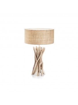 Rustic wooden table lamp 1 light Driftwood
