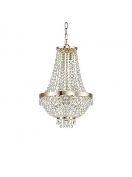Lampadario in cristallo classico 6 luci Caesar oro
