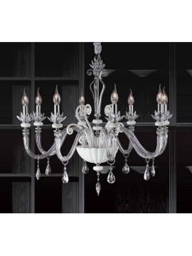 Lampadario in cristallo moderno 8 luci Design Swarovsky Adriana