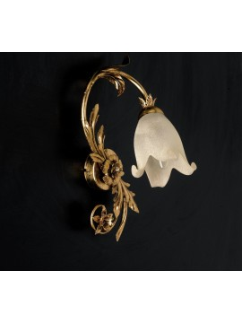 Wall light 1 light wrought iron murano gold leaf pre ap 120/1