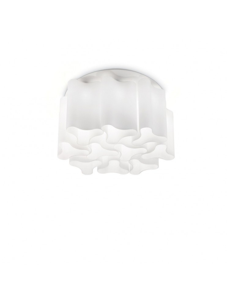 Modern white glass ceiling light 15 lights Compo