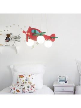 Modern wooden chandelier for bedroom 3 lights Avion 2
