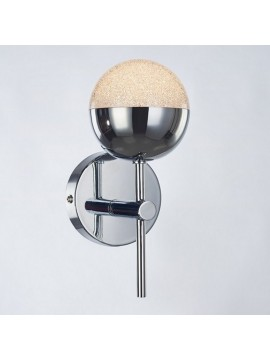 Applique a led 4,8w moderno cromato con cristalli illuminati Atomo