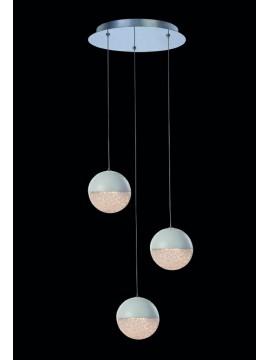 14.4w white led chandelier with Atomo illuminated crystals