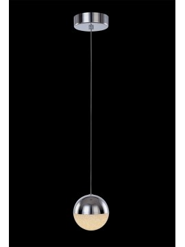 4.8w chrome LED pendant with Atomo illuminated crystals