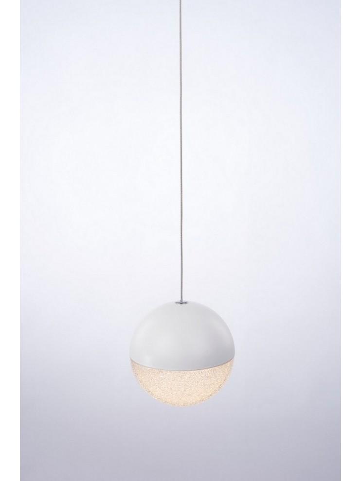 Sospensione a led 4,8w bianca con cristalli illuminati Atomo