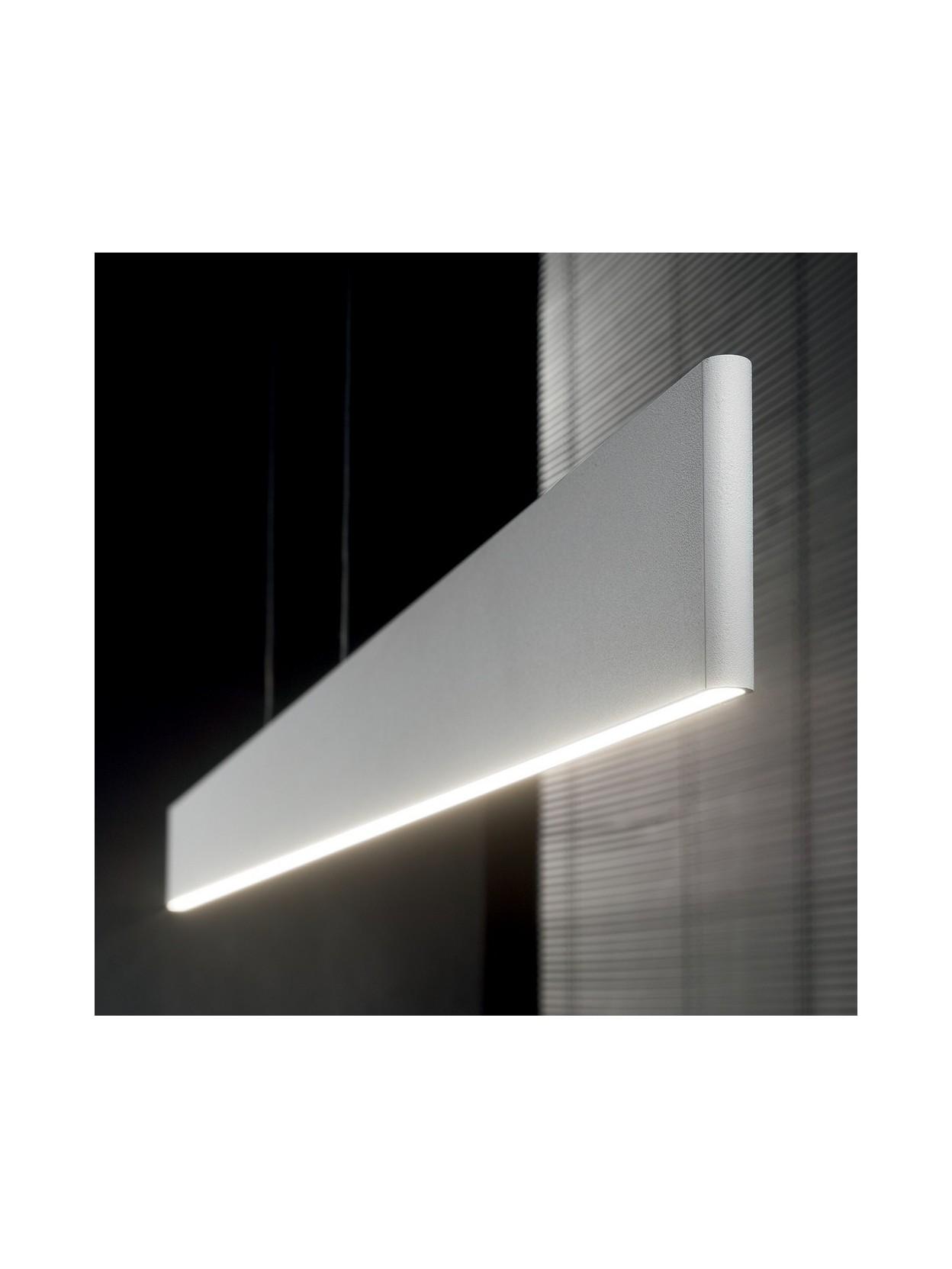 Lampadario a led moderno bianco desk for Lampadario moderno led