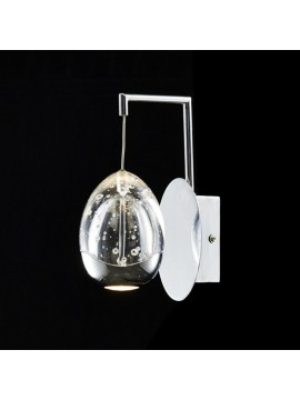 4.8w LED wall lamp with Golden Egg illuminated crystals