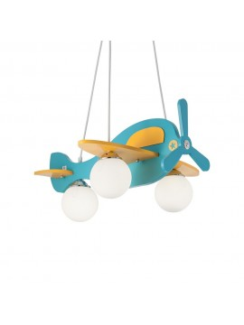 Avion colored chandelier for 3-lights wooden bedroom-1