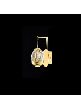 4.8w gold LED wall lamp with Golden Egg illuminated crystals