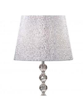 Lume grande moderno brillantini argento Le Roy