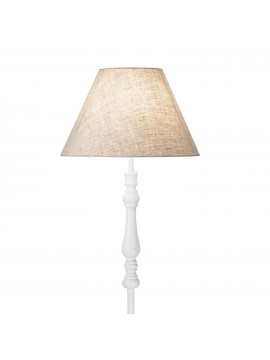 Vintage floor lamp 1 white light with Provence shade