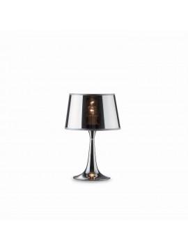 Modern table lamp 1 light chrome London small