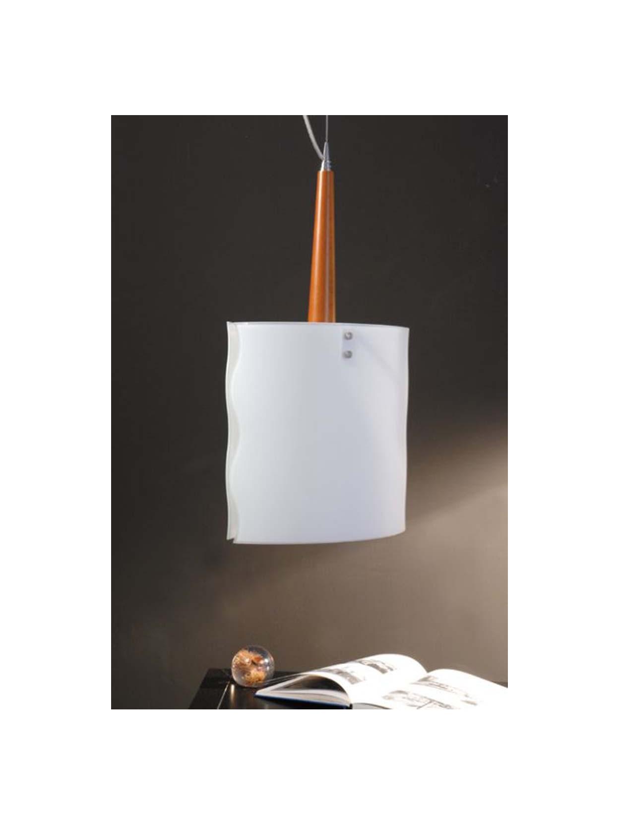 Lampadario moderno 1 luce legno ciliegio nov479sg for Scrittoio ciliegio moderno