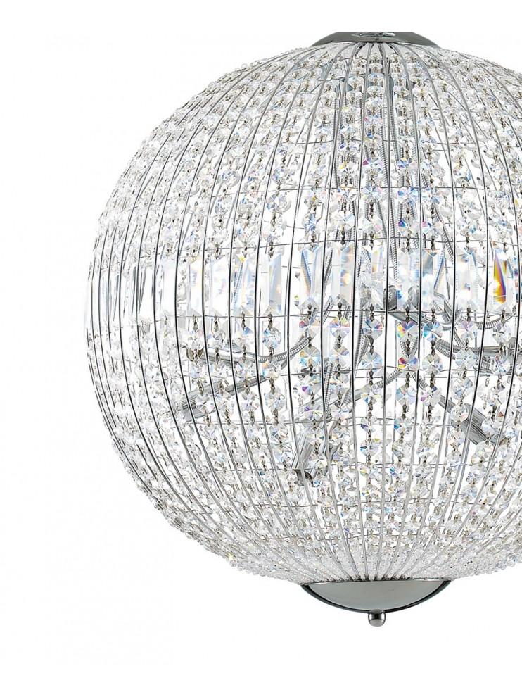 Lampadario moderno a sfera in cristallo 12 luci Luxor