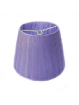 Paralume lilla a molla plisse in organza D.14cm