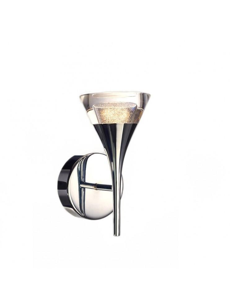 Lighted chrome modern 6w led applique Gioiello
