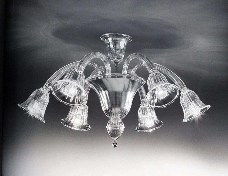 Plafoniere Classiche In Vetro Di Murano : Plafoniera murano luci voltolina laguna trasparente