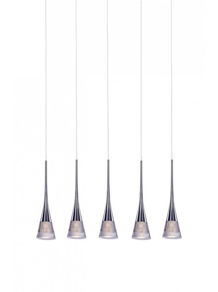 Lampadario a led 30w moderno cromato illuminati Gioiello