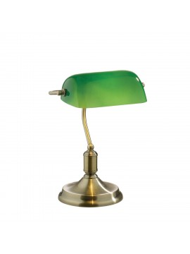 1 light Lawyer burnished classic study lamp