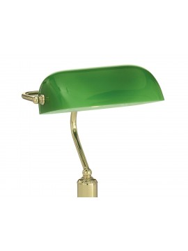 Lawyer classic 1 light brass study lamp