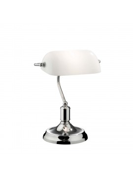 Modern Lawyer chrome 1 light study lamp
