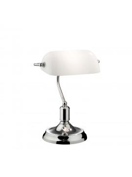 Modern Lawyer chrome 1 light study lamp