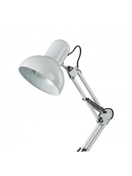 Modern white Kelly 1 light study lamp