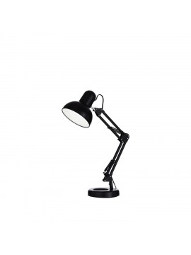 Modern 1 light Kelly black study lamp