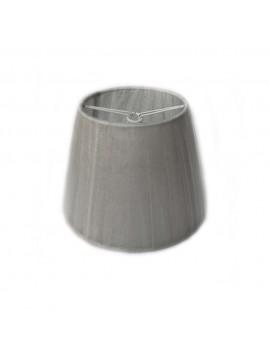 Paralume argento a molla plisse in organza D.14cm