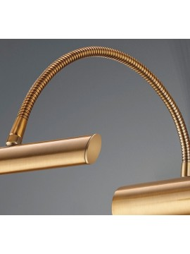Applique a led 4w ottone anticato flessibile trio 279770104 Curtis