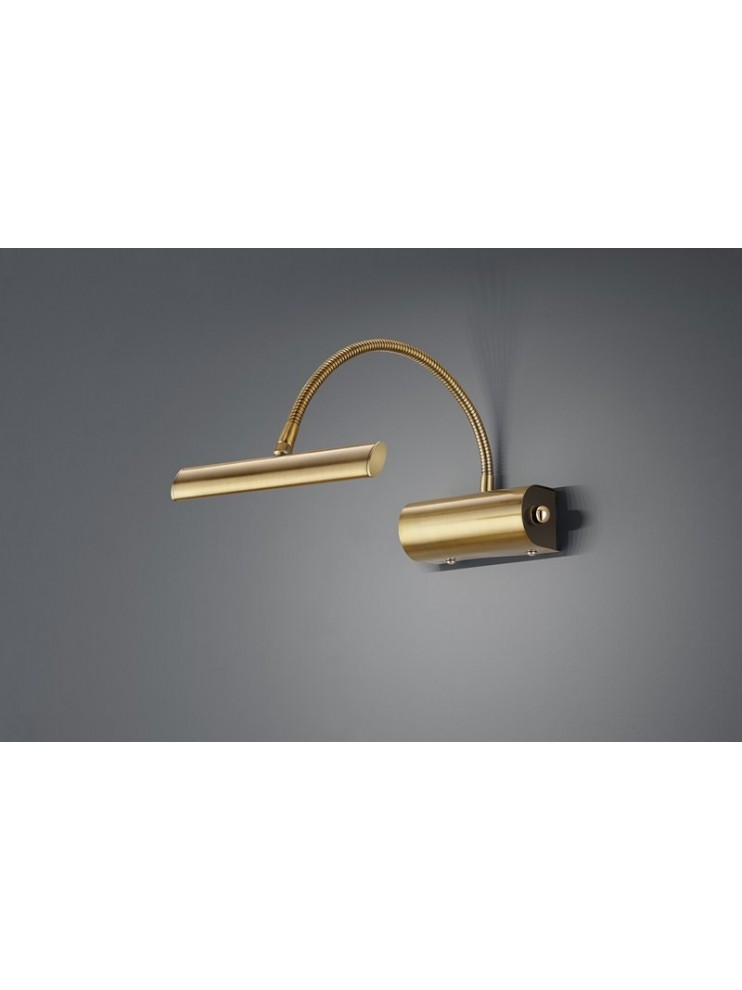 Applique a led 4w ottone anticato flessibile trio 279770104 Curtis