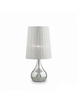 Modern lamp 1 light in Eternity big silver fabric