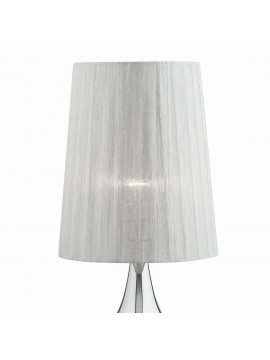 Modern lamp 1 light in Eternity big silver fabric