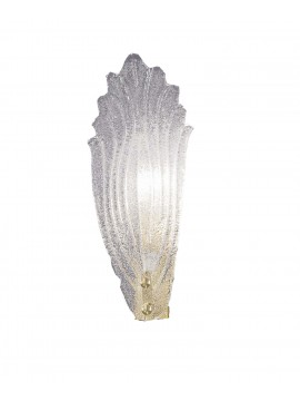 Classic Murano crystal 1 light wall sconce 2519-app