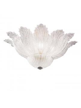 Plafoniera classica murano graniglia cristallo 5 luci 2519-plp
