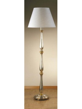 Piantana classica in legno foglia argento-oro 1 luce Esse 70/t