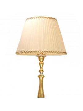 Piantana classica in legno foglia oro-argento 1 luce Dbs 310/pt