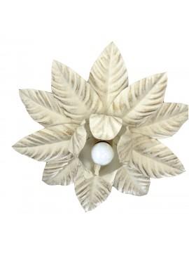 Plafoniera classica in ferro battuto avorio e oro 1 luce Esse 136/1P