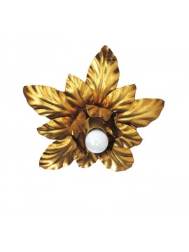 Plafoniera classica in ferro battuto oro 1 luce Esse 137/1P