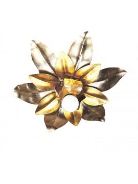 Plafoniera classica in ferro battuto argento-oro 1 luce Esse 139/1P