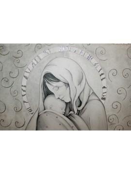 Capezzale quadro moderno sacro madonna 7553-2