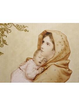 Capezzale quadro moderno sacro madonna 7553-3