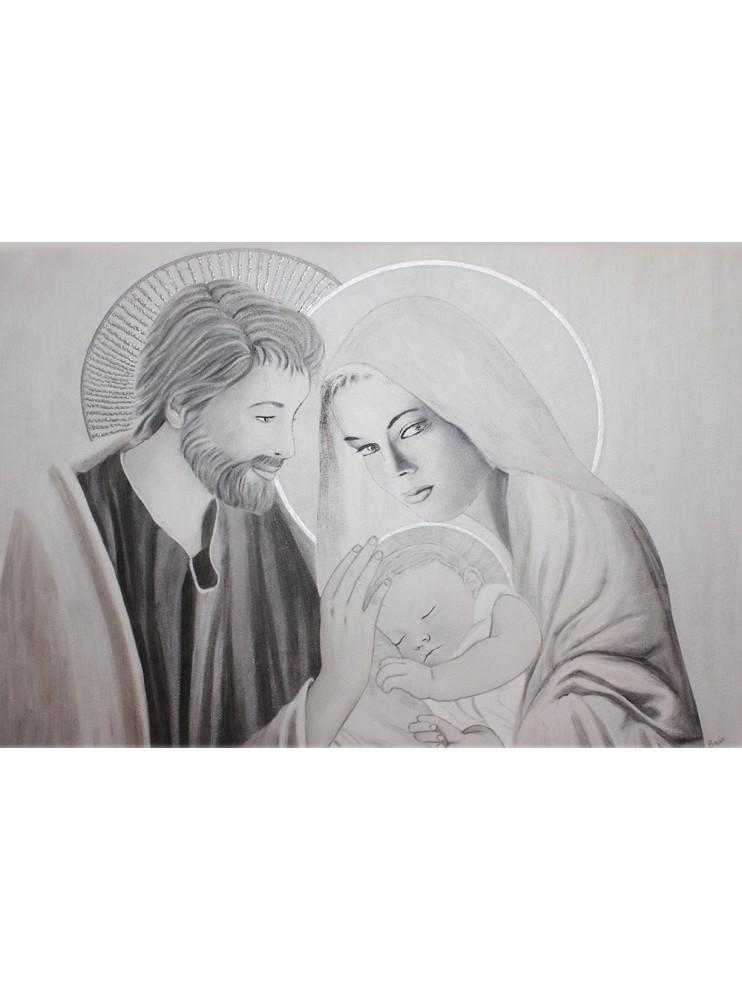 Quadro Sacra Famiglia Moderno.Capezzale Quadro Affresco Moderno Sacra Famiglia 10519