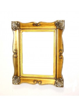 Frame in worked gold-silver wood for 30x40 square art.008