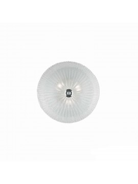 Plafoniera classica in vetro trasparente 3 luci Shell