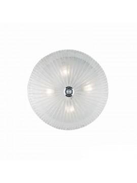 Plafoniera classica in vetro trasparente 4 luci Shell
