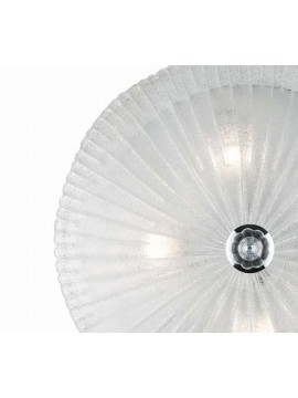 Classic transparent glass ceiling light 4 Shell lights