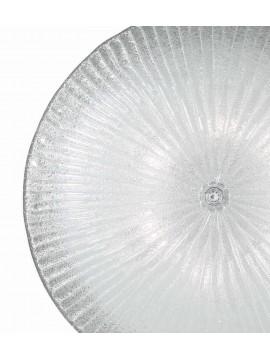 Plafoniera classica in vetro trasparente 6 luci Shell
