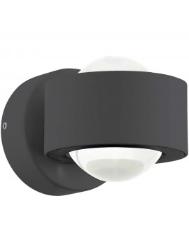 Applique a led 5w moderno nero GLO 96049 Ono 2